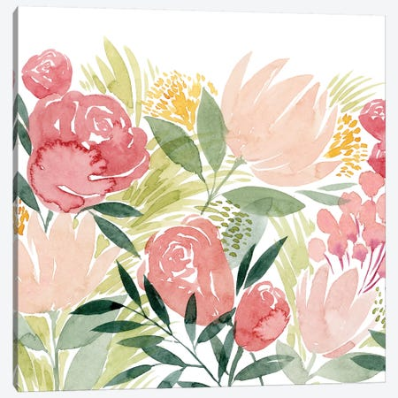 Sunkissed Posies II Canvas Print #POP1287} by Grace Popp Canvas Wall Art