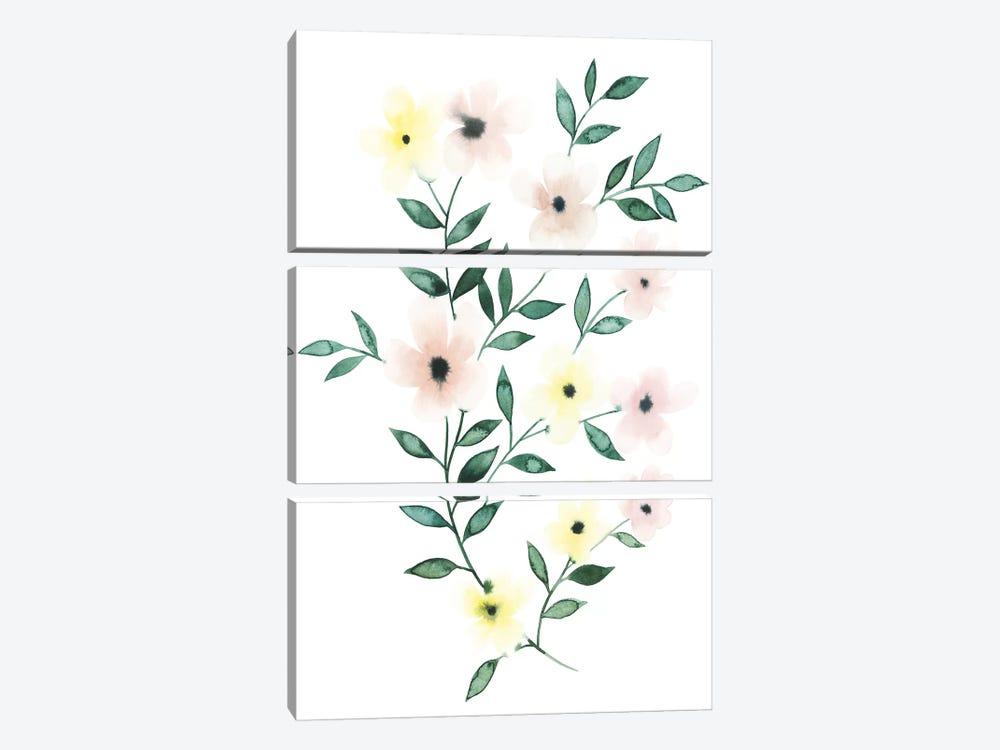 Trellis Flowers II by Grace Popp 3-piece Art Print