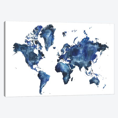 Water World I Canvas Print #POP1302} by Grace Popp Canvas Wall Art
