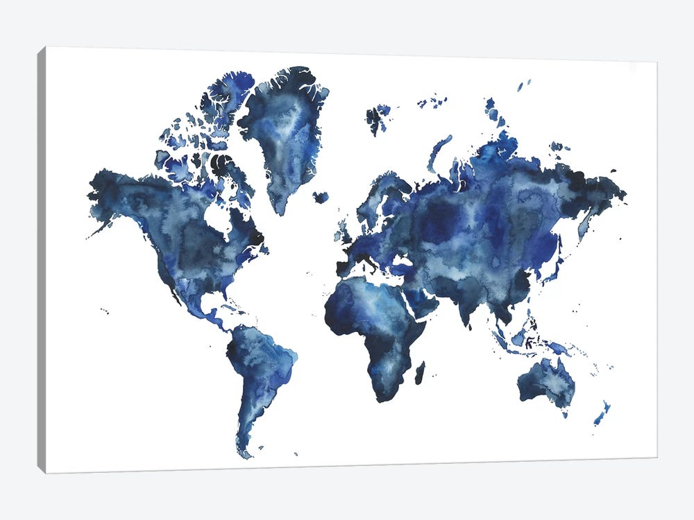 Water World I by Grace Popp 1-piece Canvas Print
