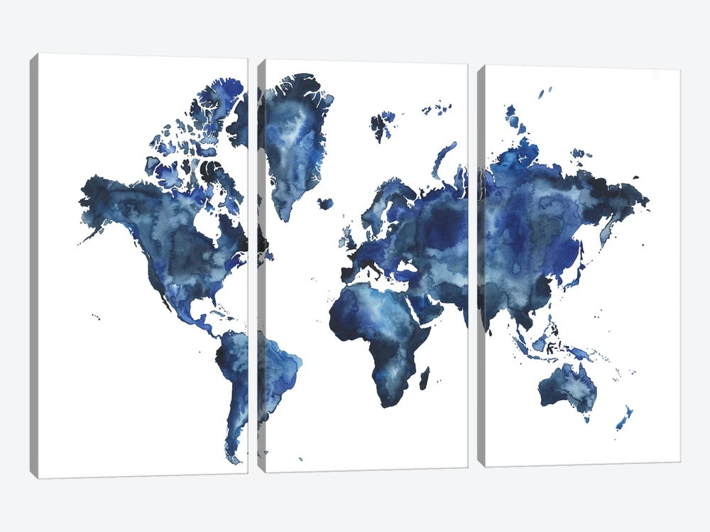 Water World I by Grace Popp 3-piece Canvas Print