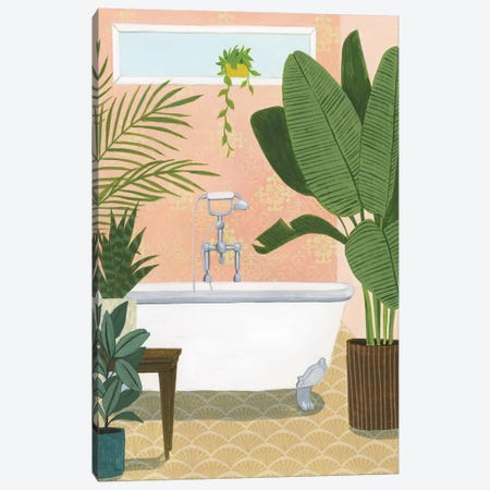 Bathtub Oasis I Canvas Print #POP1309} by Grace Popp Canvas Artwork