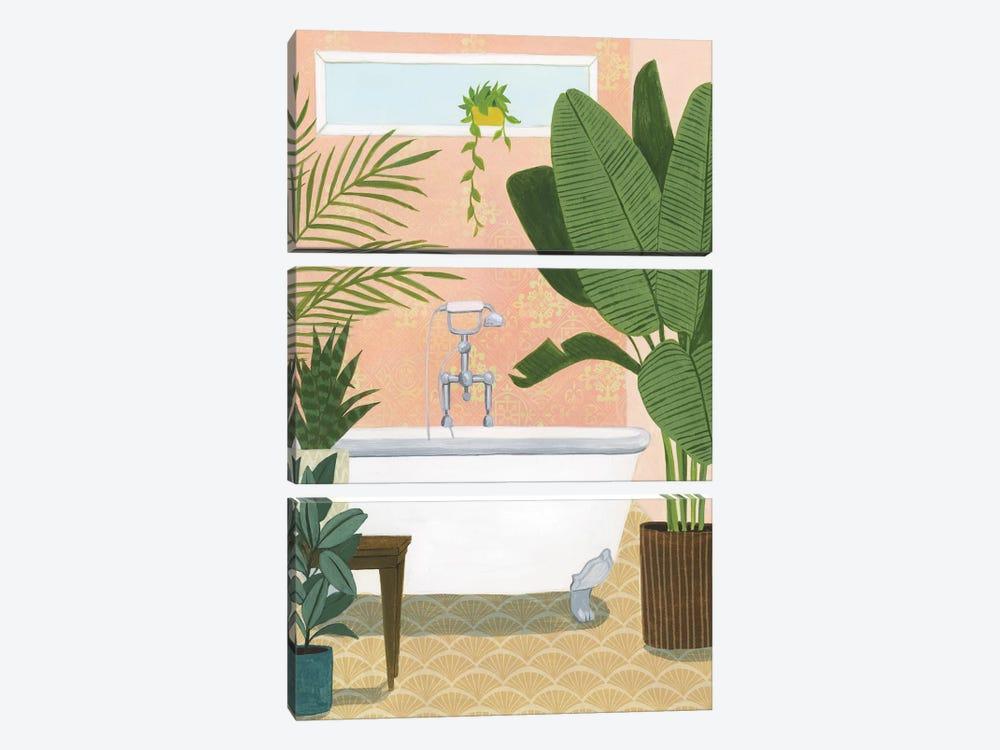 Bathtub Oasis I by Grace Popp 3-piece Canvas Art
