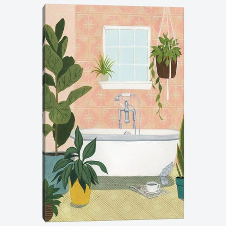 Bathtub Oasis II Canvas Print #POP1310} by Grace Popp Canvas Art Print