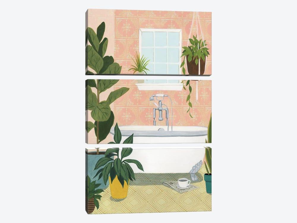 Bathtub Oasis II by Grace Popp 3-piece Canvas Wall Art