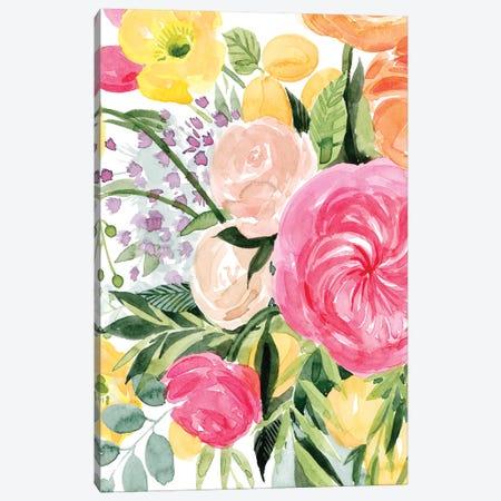 Blossomy Gathering I Canvas Print #POP1357} by Grace Popp Canvas Wall Art