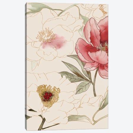 Unfinished Floral I Canvas Print #POP135} by Grace Popp Canvas Art Print