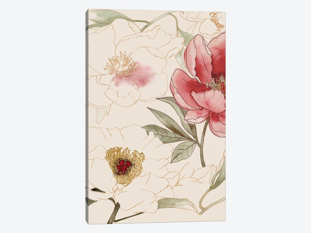 Unfinished Floral I by Grace Popp 1-piece Canvas Art Print