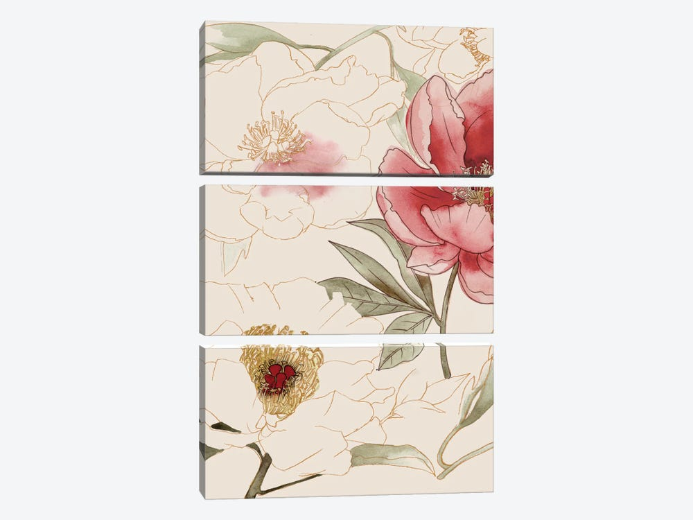 Unfinished Floral I by Grace Popp 3-piece Canvas Art Print