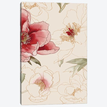 Unfinished Floral II Canvas Print #POP136} by Grace Popp Canvas Print