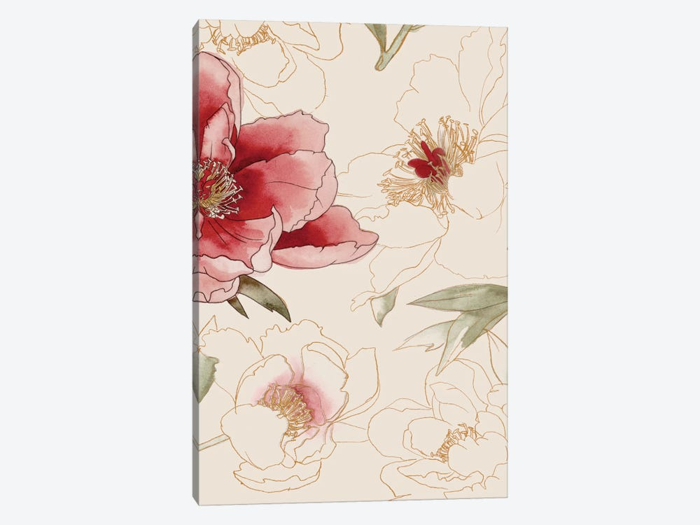 Unfinished Floral II by Grace Popp 1-piece Canvas Art