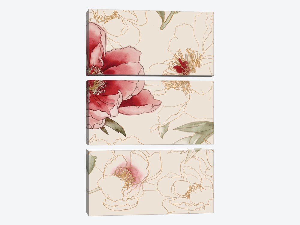 Unfinished Floral II by Grace Popp 3-piece Canvas Art