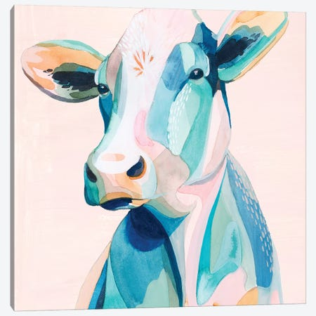 Pastel Pasture II Canvas Print #POP1386} by Grace Popp Art Print