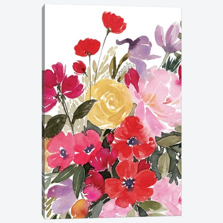 Rainy Day Bouquet II Canvas Print #POP1398} by Grace Popp Canvas Print