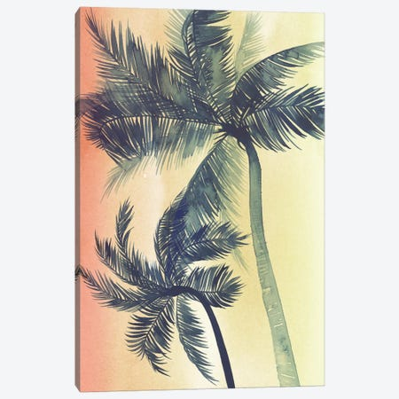 Vintage Palms I Canvas Print #POP141} by Grace Popp Canvas Print