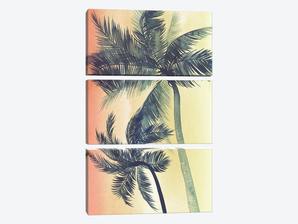 Vintage Palms I by Grace Popp 3-piece Canvas Art