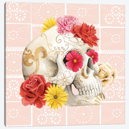 Fiesta de la Vida Muertos I Canvas Print #POP1421} by Grace Popp Canvas Art Print