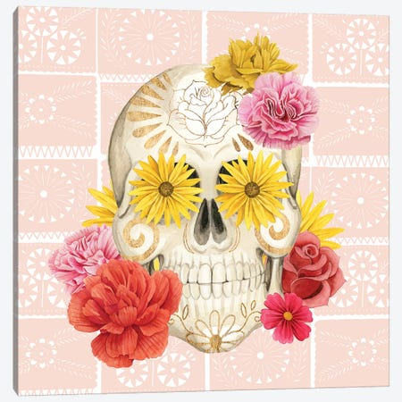 Fiesta de la Vida Muertos II Canvas Print #POP1422} by Grace Popp Canvas Art Print