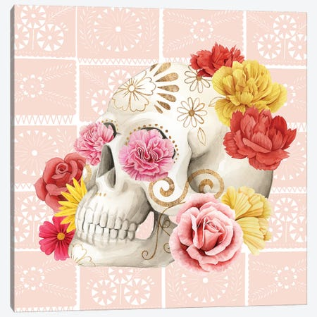Fiesta de la Vida Muertos III Canvas Print #POP1423} by Grace Popp Art Print