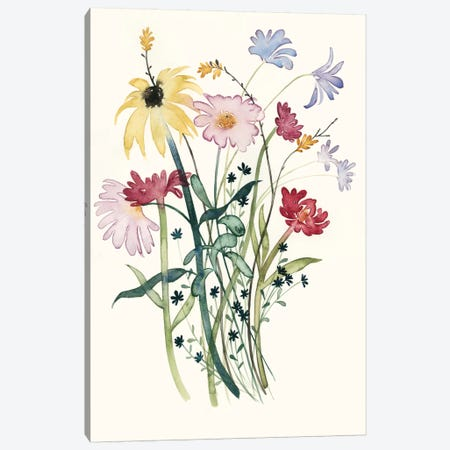 Wildflower Watercolor I Canvas Print #POP143} by Grace Popp Canvas Print