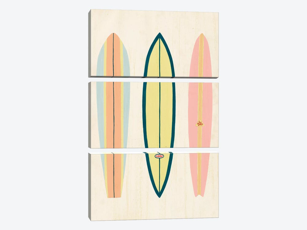 So Cal Surfer I by Grace Popp 3-piece Canvas Art