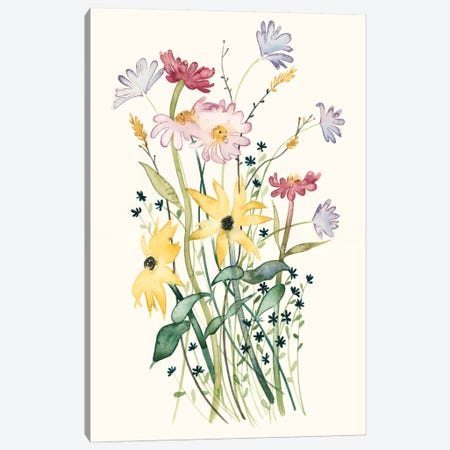 Wildflower Watercolor II Canvas Print #POP144} by Grace Popp Canvas Art