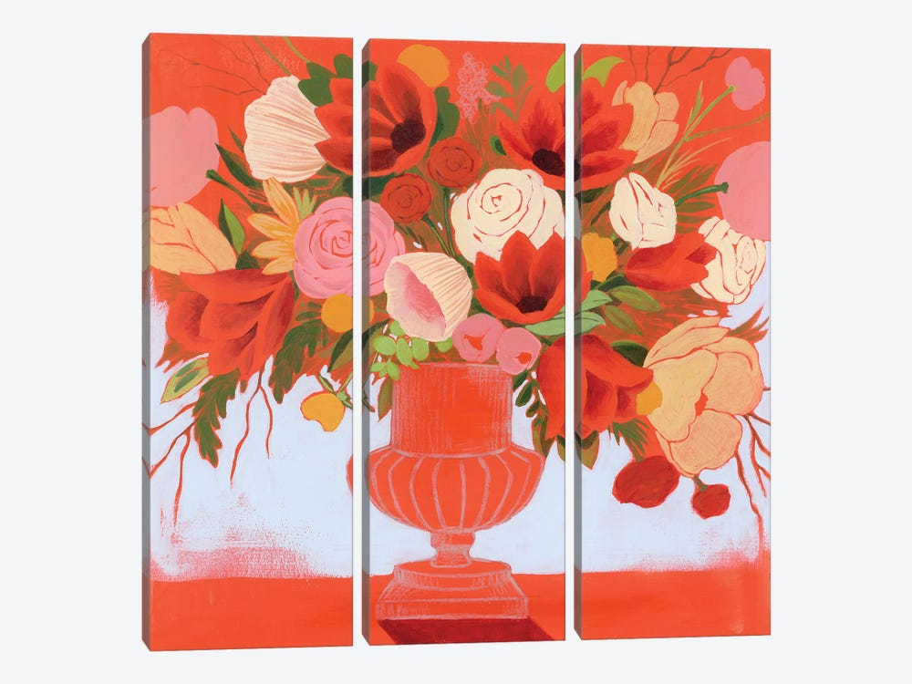 Blossoms on Fire I by Grace Popp 3-piece Canvas Print
