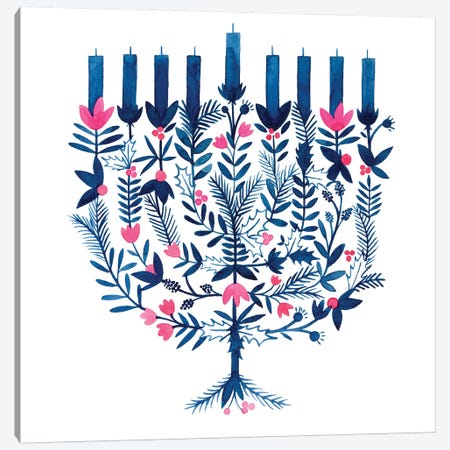 Boho Hanukkah I Canvas Print #POP1474} by Grace Popp Canvas Print
