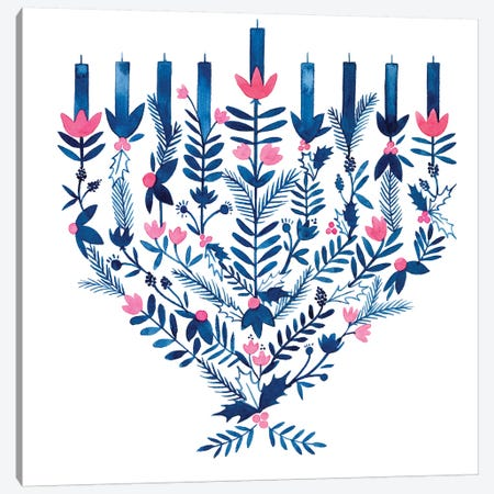 Boho Hanukkah II Canvas Print #POP1475} by Grace Popp Canvas Art Print