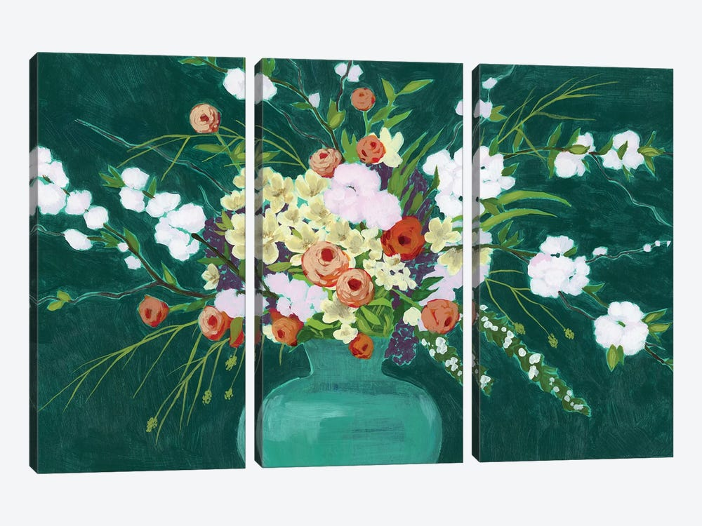 Bountiful Blossoms I by Grace Popp 3-piece Canvas Art Print