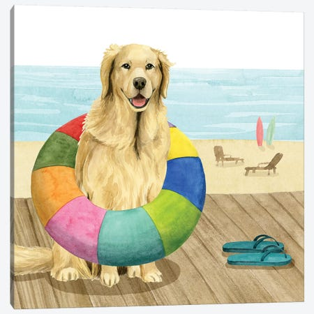 Let's Go for a Boardwalk III Canvas Print #POP1510} by Grace Popp Canvas Art Print