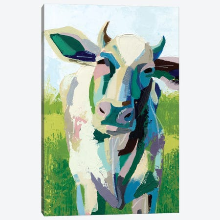 Painterly Cow II Canvas Print #POP153} by Grace Popp Canvas Wall Art