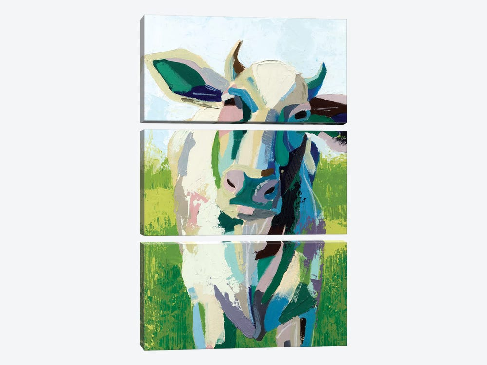 Painterly Cow II by Grace Popp 3-piece Canvas Art Print