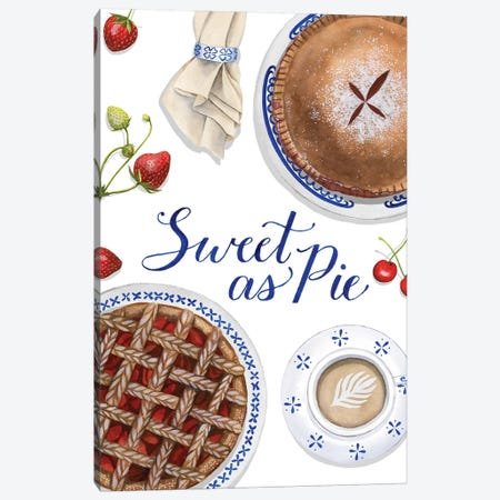 Sweet As Pie I Canvas Print #POP1540} by Grace Popp Canvas Art