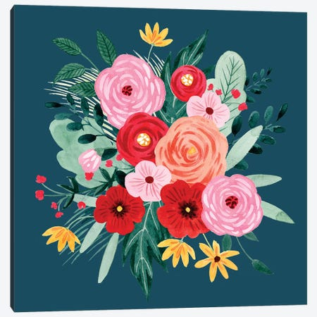 Sweet Hearts Bouquet I Canvas Print #POP1541} by Grace Popp Canvas Artwork