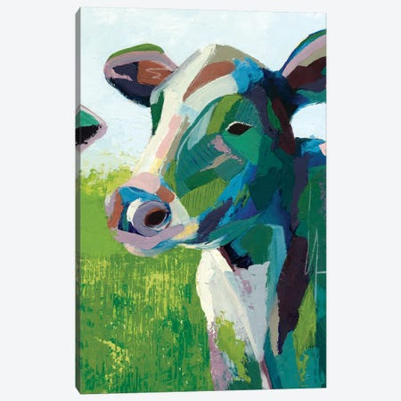 Painterly Cow III Canvas Print #POP154} by Grace Popp Canvas Art Print
