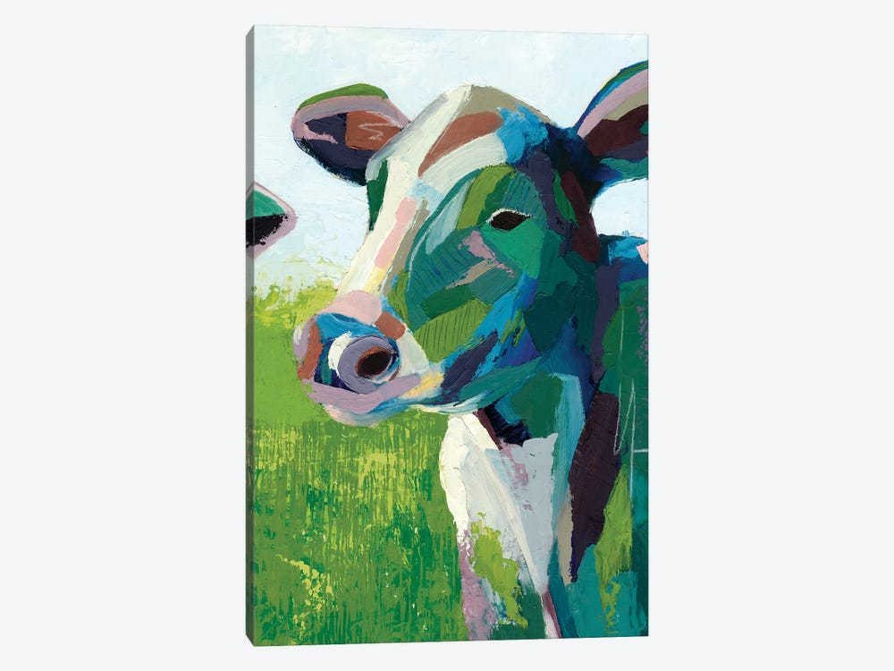 Painterly Cow III by Grace Popp 1-piece Canvas Artwork