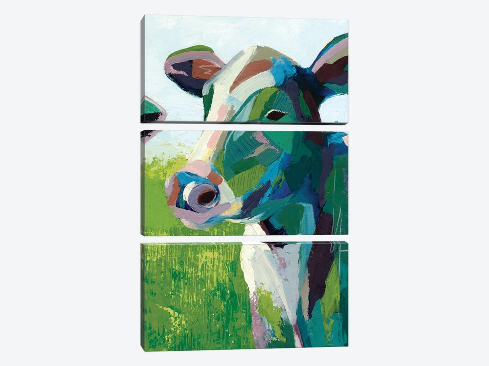 Painterly Cow III by Grace Popp 3-piece Canvas Artwork