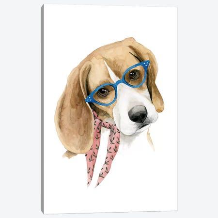 Vogue Dog III Canvas Print #POP1551} by Grace Popp Art Print