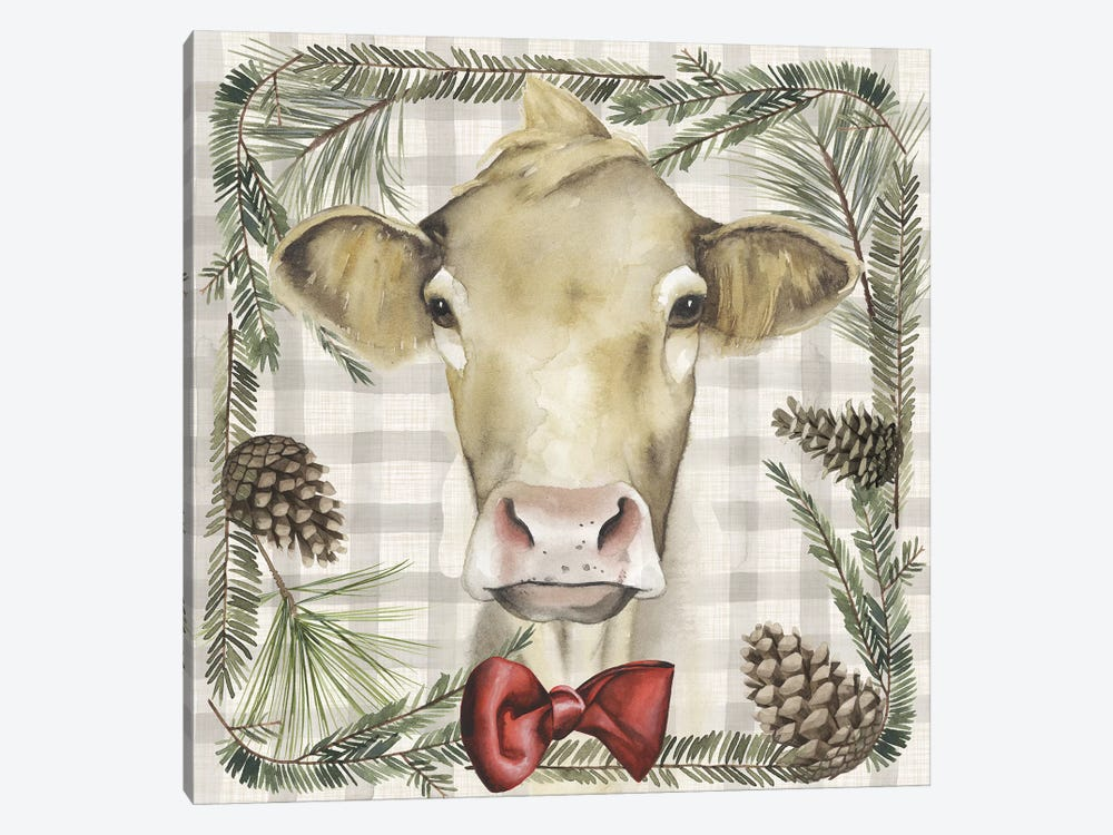 A Farmer's Christmas Collection G by Grace Popp 1-piece Canvas Print