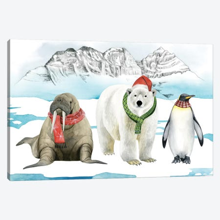 Arctic Animal Collection A Canvas Print #POP1591} by Grace Popp Art Print