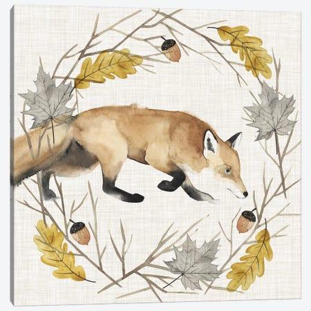 Autumn Animals Collection E Canvas Print #POP1596} by Grace Popp Canvas Wall Art