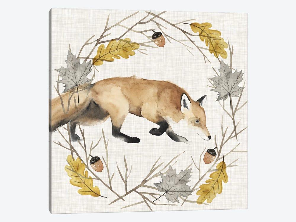 Autumn Animals Collection E by Grace Popp 1-piece Canvas Wall Art