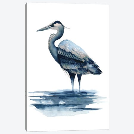Azure Heron I Canvas Print #POP159} by Grace Popp Canvas Wall Art