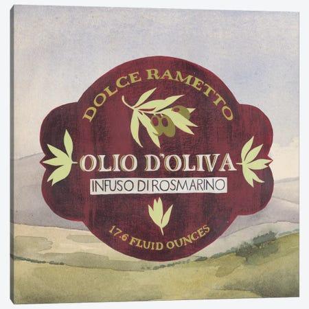 Olive Oil Labels II Canvas Print #POP15} by Grace Popp Art Print