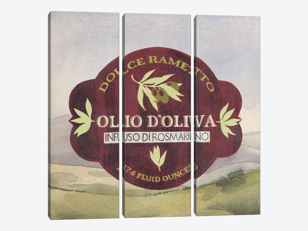 Olive Oil Labels II by Grace Popp 3-piece Canvas Wall Art