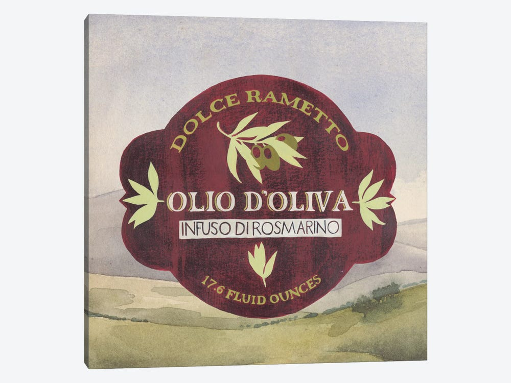 Olive Oil Labels II by Grace Popp 1-piece Canvas Artwork