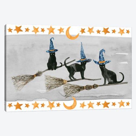 Black Cat Collection D 3-Piece Canvas #POP1601} by Grace Popp Art Print