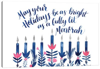 Boho Hanukkah Collection A Canvas Art Print