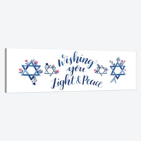 Boho Hanukkah Collection D Canvas Print #POP1613} by Grace Popp Canvas Artwork